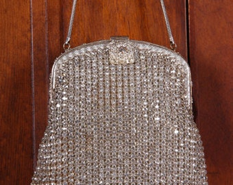 Hand Made in West Germany for Walborg Rhinestone Evening Bag