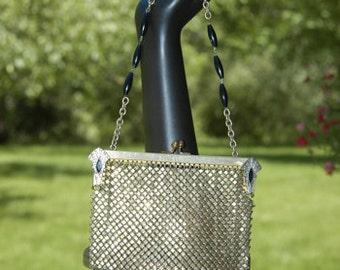 Vintage Art Deco German Silver Mesh Bag