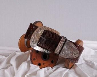 Vintage Al Beres Vintage Snakeskin Belt