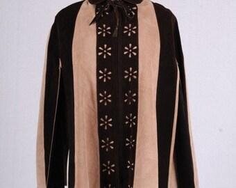 Fashionable Vintage 1960's Suede Cape