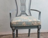 1960 retro French style lyre back arm chair