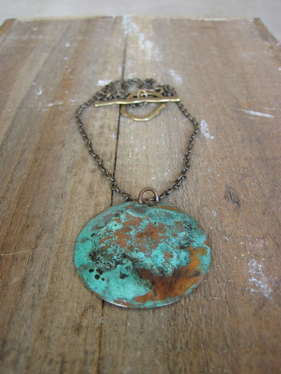 The Blues Necklace- Copper Patina
