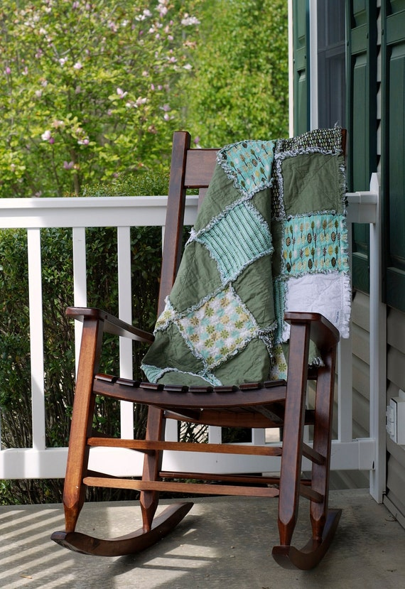 Rag Throw Quilt - Clearanced priced - completed and ready to ship