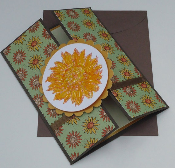 Sunflower Card Blank All Occasion Thinking of You