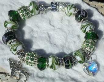 Twilight Inspired European Charm Bracelet