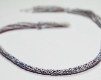 Kumihimo Bracelet Egyptian Cotton Fiber Eco Friendly Purple Jewelry