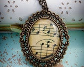Musical Fun - Glass Pendant Necklace