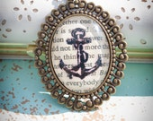 Anchors Aweigh - Glass Pendant Necklace