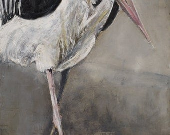 Walking Marabou  limited edition print size 2