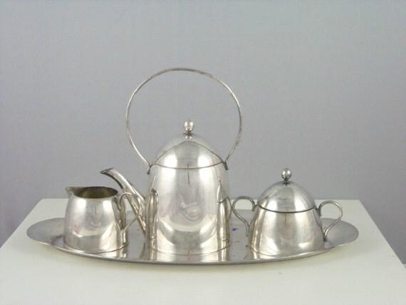 Art Deco Tea Set- International Silver Co.