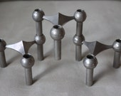 3 Vintage Nagel Mid Century Modern Modular Stacking Candle Holders