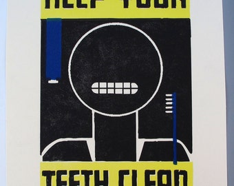 WPA Poster No.1 Keep Your Teeth Clean