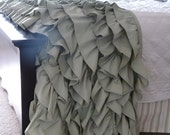 Queen-Size Ruffled Throw