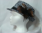 Black and White Loepard Print Fedora Hat