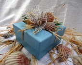 Light Blue Jewelry Gift Box Beach Theme