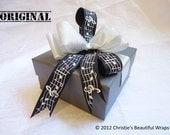 Grey Music Theme Jewelry Box