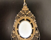 Vintage Filigree Gold Toned Necklace