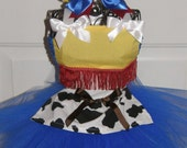 Cowgirl Princess...Toy Story Inspired Tutu Costume with matching hair bow  NB thru 7/8