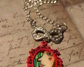 Ramona - Original Art Cameo Necklace