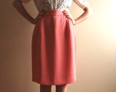 RESERVED: Vintage 'Events' Salmon Pink Skirt