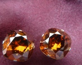 Swarovski Crystal Copper Cushion Cut  Stud Earrings (10mm)