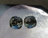 Swarovski Silver Night Cushion Cut Stud Earrings (10mm)