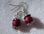 Red Velvet Scroll Earrings