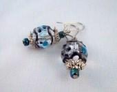 Carnival Blue and Black Earrings