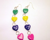 50% OFF - Cute Colorful Heart Dangle Earrings