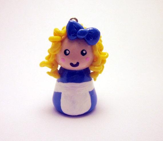 Alice in Wonderland Necklace - Handmade Polymer Clay Charm