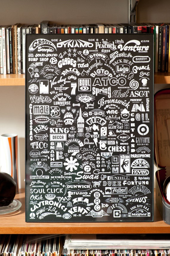 45rpm Record Poster