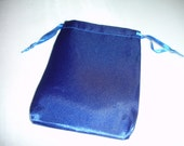 Beautifil Midnight Blue Satin Gift Bags 4x5 inches  12 bags