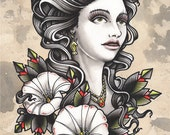Lady Print Tom Ruki Tattoo Print
