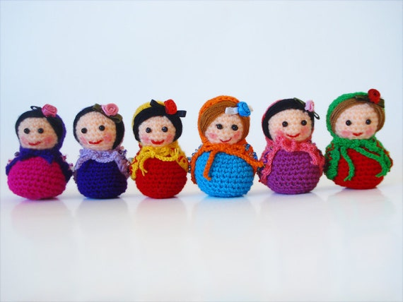 Amigurumi Mini Doll : Items similar to mini amigurumi matryoshka dolls on etsy