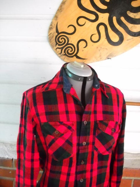 flannel vintage shirt on etsy clothing