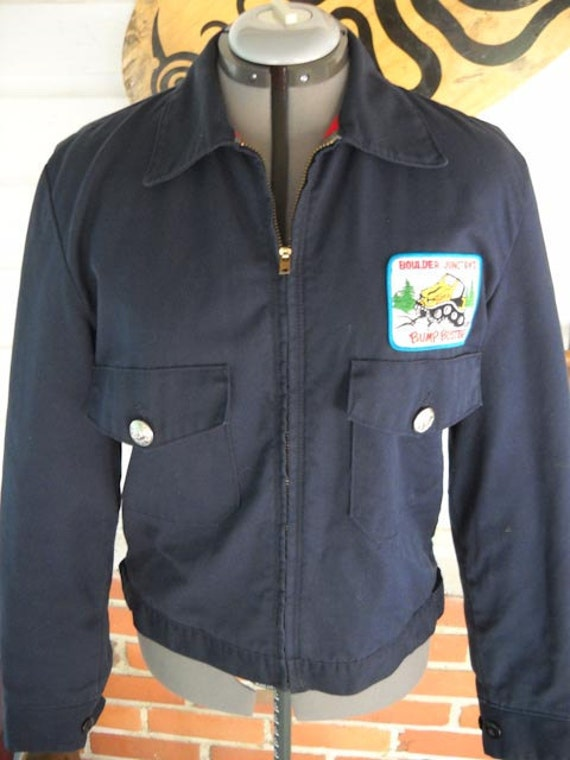 Vintage 80s Mens Mechanic S Jacket Industrial Gear Coat