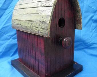 Barn birdhouse, functional birdhouse, rustic birdhouse, wooden birdhouse