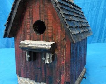 Vintage birdhouse, Barn Birdhouse, Rustic Barn, Antique Barn, Old Barn Birdhouse, Rustic Birdhouse