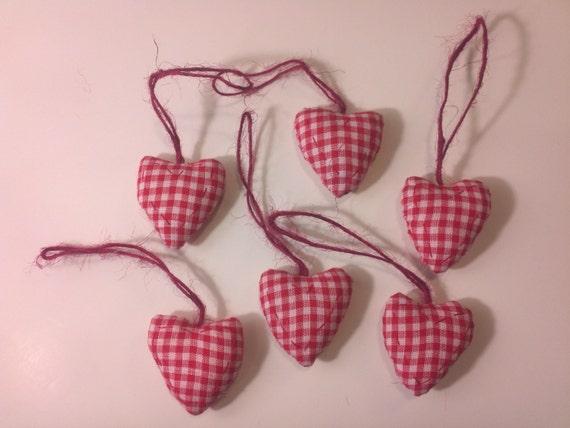 6 Plaid Pillow Heart Ornament
