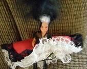 Celluloid Vintage Souvenier Can Can Doll   PARIS  FRANCE