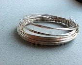 Square Wire Silver 22 Gauge Ga 15 feet