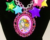 Rainbow Brite Star Charm Necklace