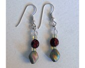 Earrings - Czech glass, Japanese glass seed beads,  and sterling - EA18