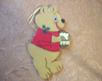 Winnie the Pooh handpainted wooden ornament--FREE PERSONALIZATION