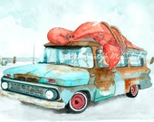 ACEO - Lobster Wagon Giclee Print