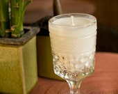 Soy Candle Up-Cycled Goblet, Elegantly Classic Unscented