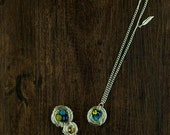 Reserved for Christa-- Four Made To Order Birthstone Bird Nest Necklace