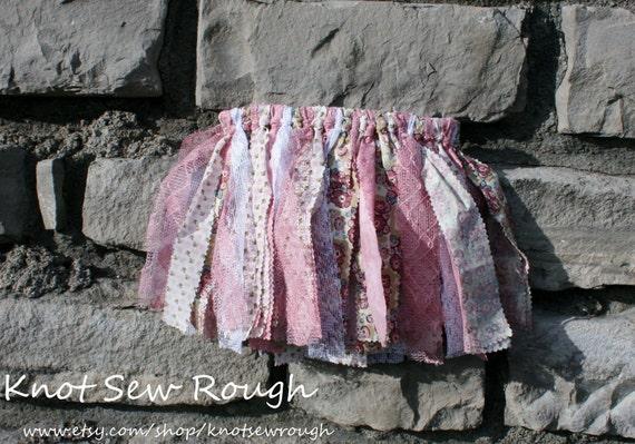 Sew vintage Scrap Fabric Tutu Skirt 12-24m, 2t-3t, 4t-6