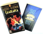Casablanca Notebook Recycled Journal from VHS Cover & Bonus 50th Anniversary Booklet