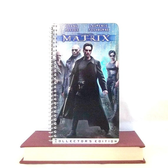 Repurposed Notebook From The Matrix VHS Cover - Upcycled Movie Journal - Spiral Bound